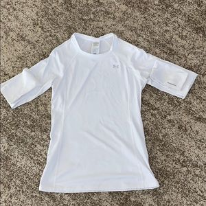 Under Armour White Long Sleeve Top Medium
